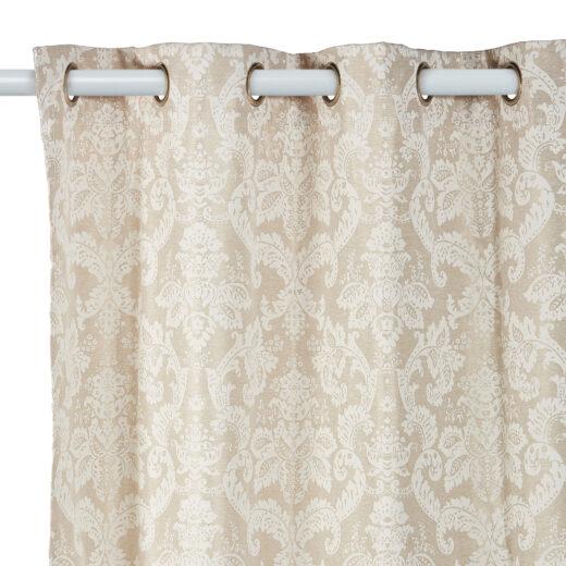 Damask Eyelet Curtains 1