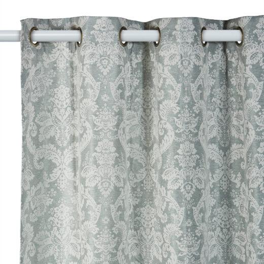 Damask Eyelet Curtains 3
