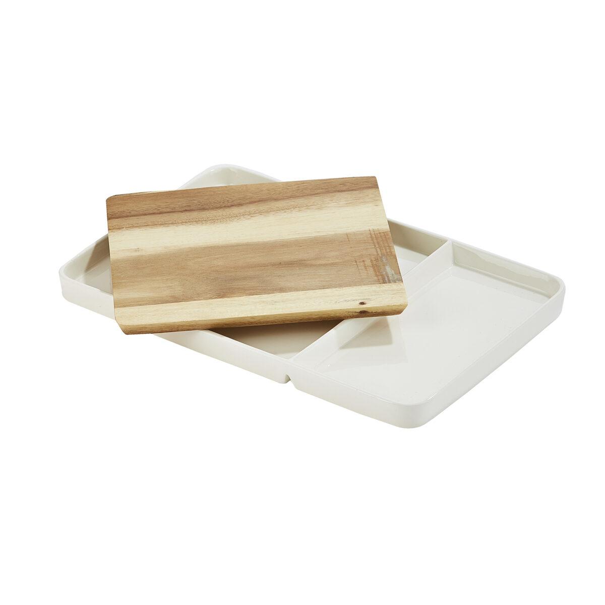 White Ceramic Serving Board 2