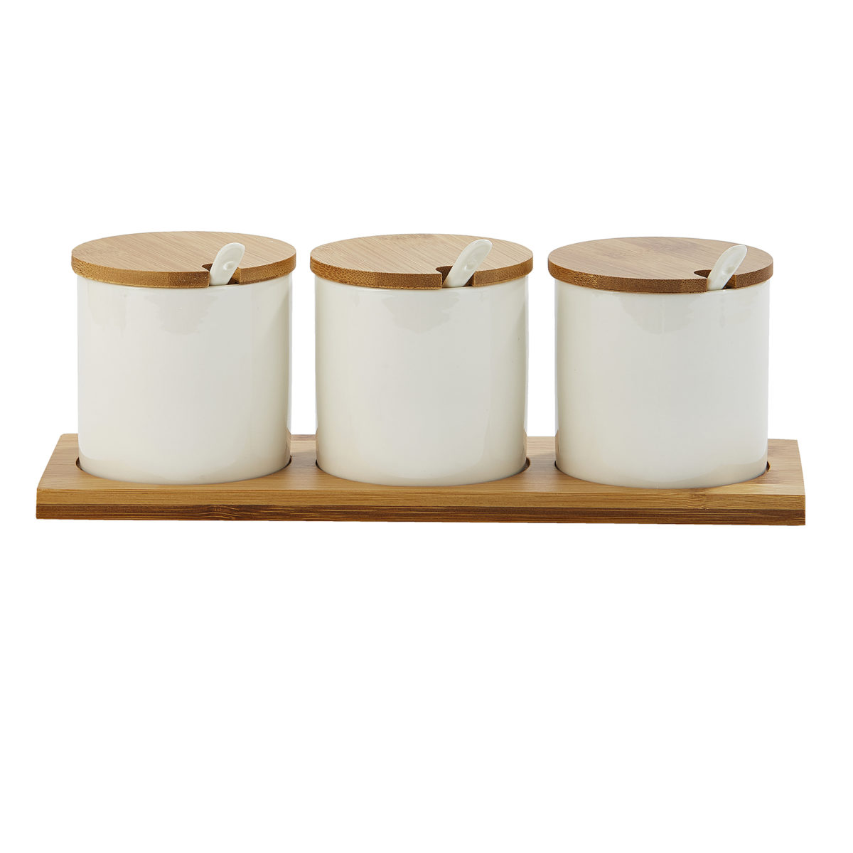 Ceramic Containers with Wooden Lids 1