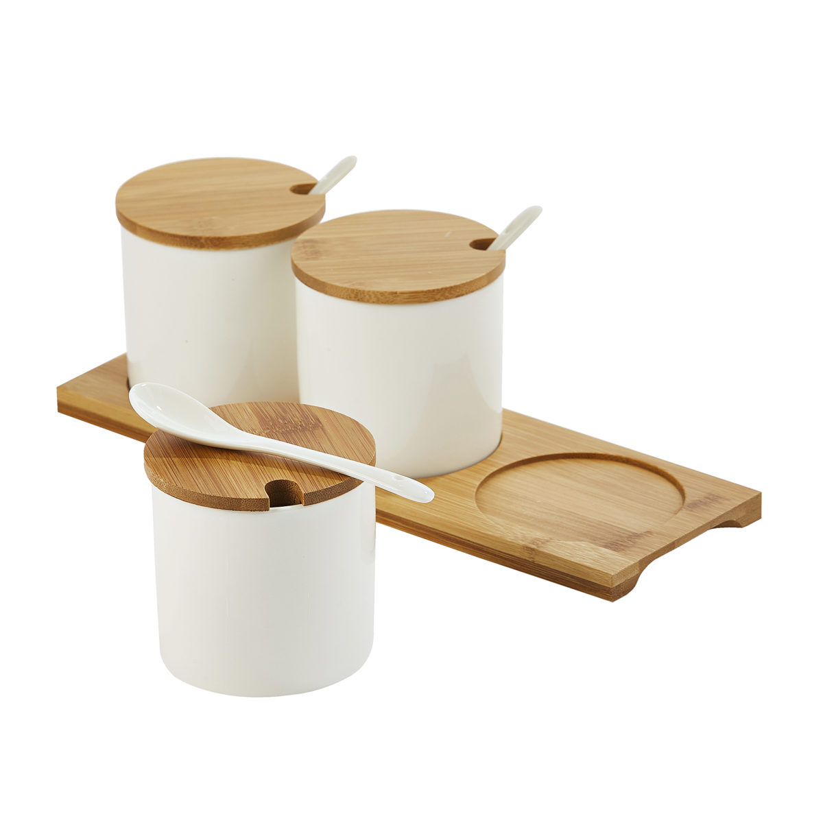Ceramic Containers with Wooden Lids 2