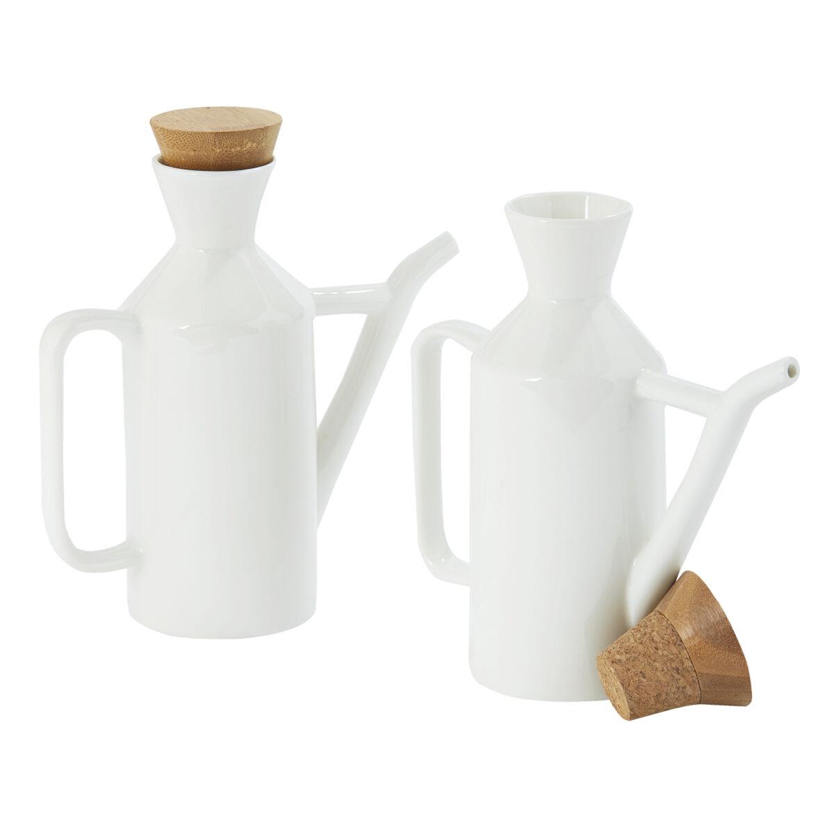 White Ceramic Pourers 2