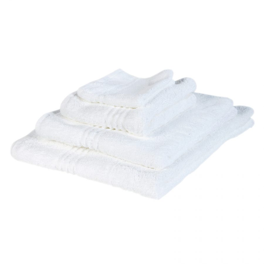 100% Cotton Snag Free 570gsm White Bath Towels 1