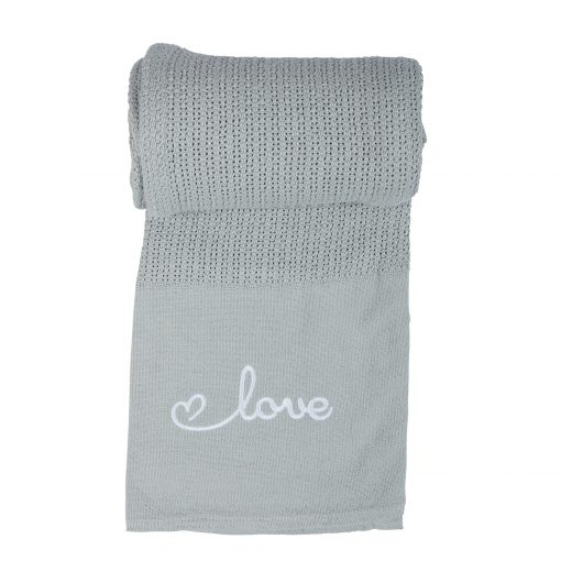 100% Cotton Love Embroidered Baby Cellular Blanket 2