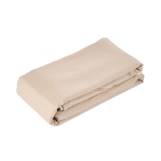 50/50 Polycotton Fitted Sheet in White, L.Grey,Rose,Stone,Duck Egg & Denim 5