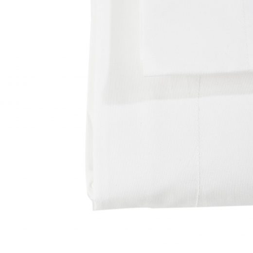 200 Thread Count 100% Cotton Percale Oxford Duvet Cover Set - White 4