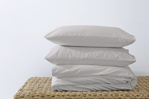 50/50 Polycotton Duvet Cover Set - Available in White, L. Grey, Rose Pink, Stone, Duck Egg, Pebble, Denim & D.Grey 2