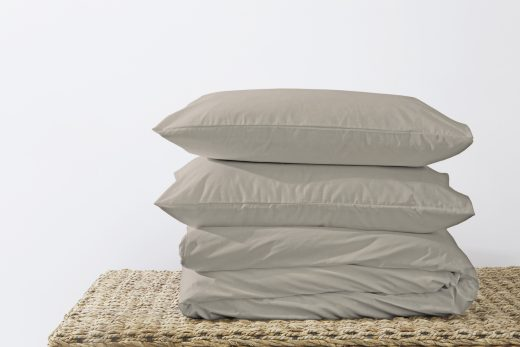 50/50 Polycotton Duvet Cover Set - Available in White, L. Grey, Rose Pink, Stone, Duck Egg, Pebble, Denim & D.Grey 6