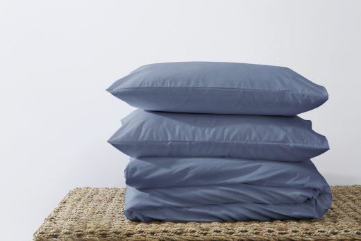50/50 Polycotton Duvet Cover Set - Available in White, L. Grey, Rose Pink, Stone, Duck Egg, Pebble, Denim & D.Grey 7