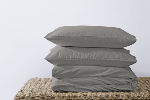 50/50 Polycotton Duvet Cover Set - Available in White, L. Grey, Rose Pink, Stone, Duck Egg, Pebble, Denim & D.Grey 8