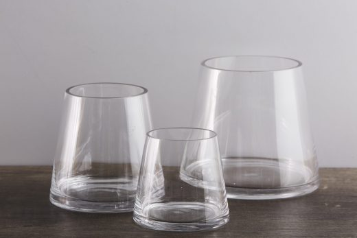 Cone Shaped Glass Vases 1