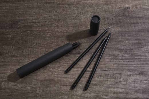 Black Wood Pencil Set 1