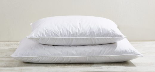 100% Cotton Downproof 85/15 Feather & Down Pillow Available in Standard & King 1