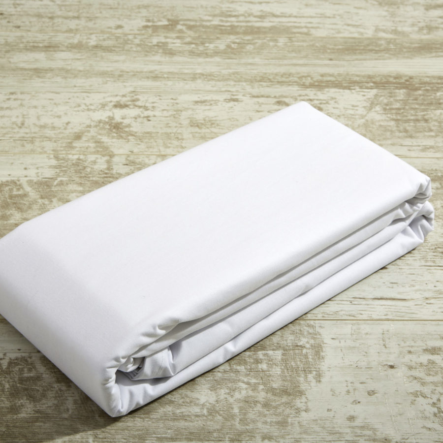 200 Thread Count 100% Cotton Percale Fitted sheets - White 1