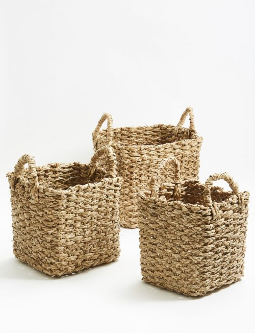 Square Grass Baskets 1
