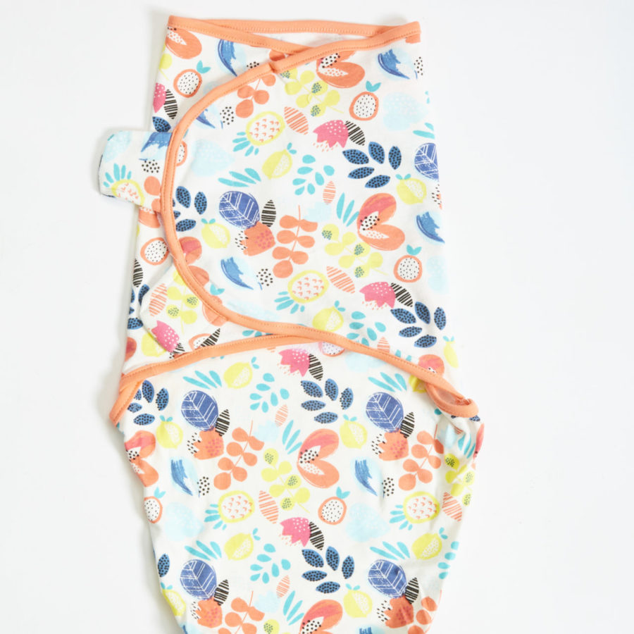 Fruity Floral Swaddle Blanket 1