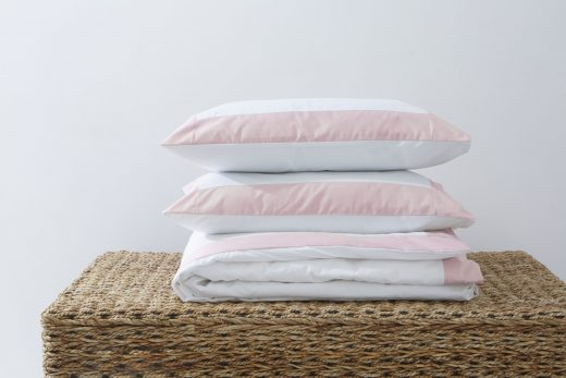 Duvet Cover with Colour Border Pink 1