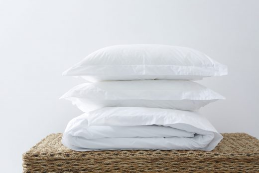 200 Thread Count 100% Cotton Percale Oxford Duvet Cover Set - White 1