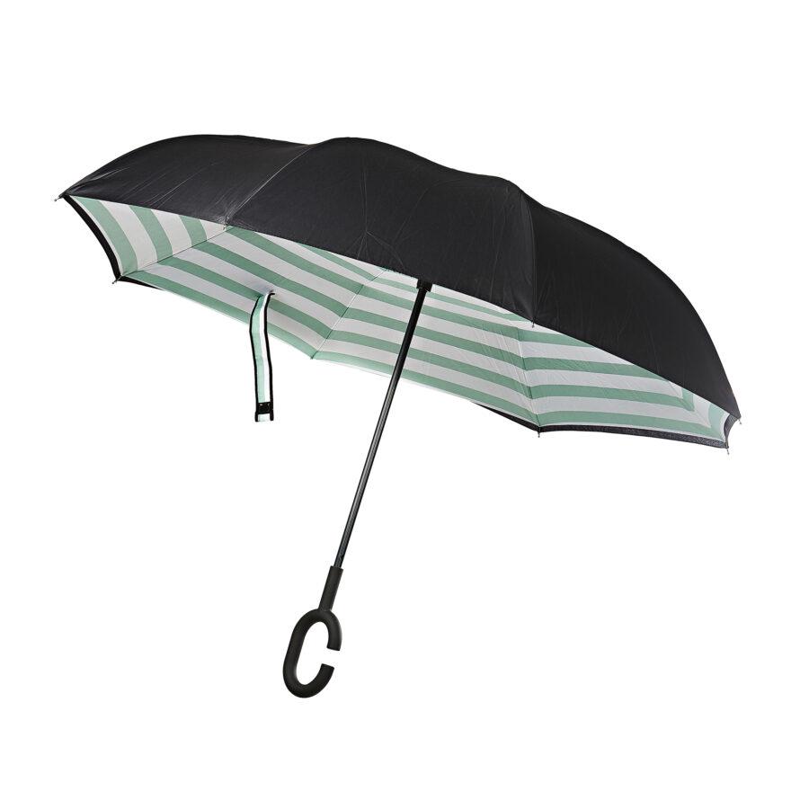 Green Stripe Umbrella 1