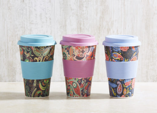 Bamboo Fibre Coffee Cup with Silicone Lid and Sleeve 1