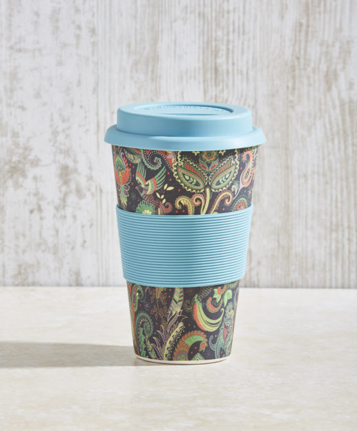 Bamboo Fibre Coffee Cup with Silicone Lid and Sleeve 2