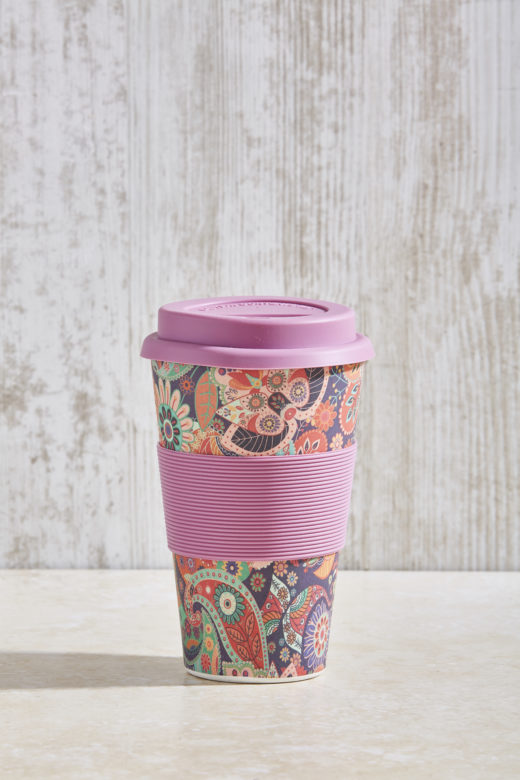 Bamboo Fibre Coffee Cup with Silicone Lid and Sleeve 3