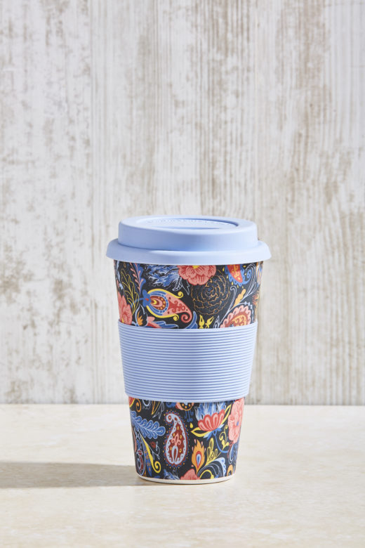 Bamboo Fibre Coffee Cup with Silicone Lid and Sleeve 4