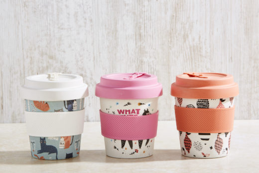 Bamboo Fibre Coffee Cup with Screw on Lid 1