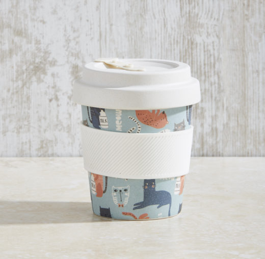Bamboo Fibre Coffee Cup with Screw on Lid 3
