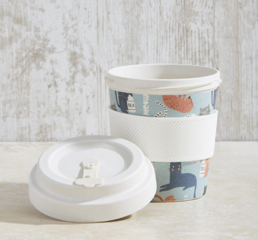 Bamboo Fibre Coffee Cup with Screw on Lid 4