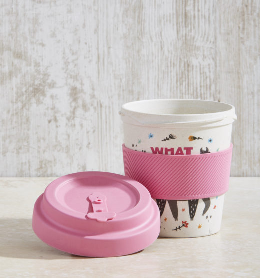 Bamboo Fibre Coffee Cup with Screw on Lid 6
