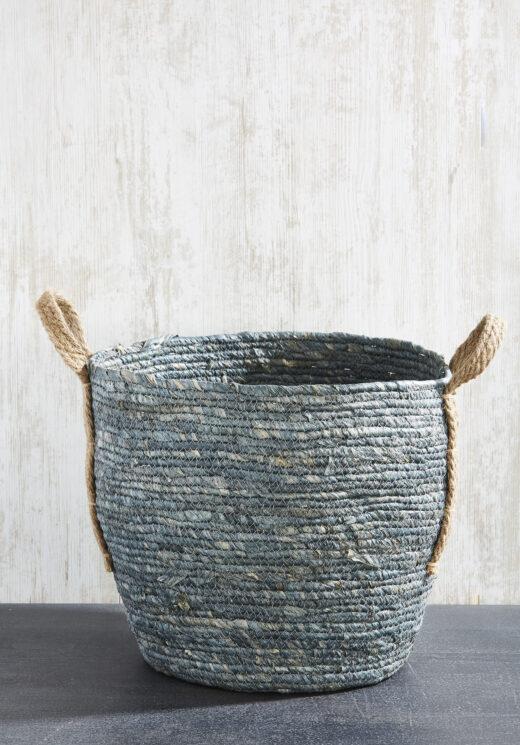 Denim Basket with Handles 3