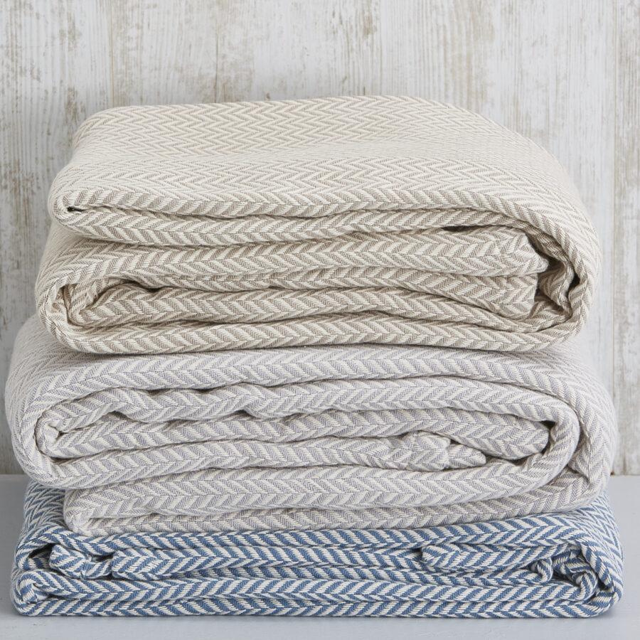 100% Cotton Herringbone Blankets 1
